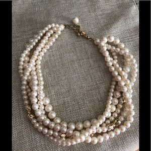 Jewelry - Vintage- multi strand faux pearl necklace EUC